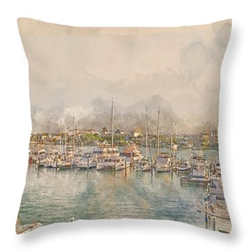 10879 Clearwater Marina Throw Pillow