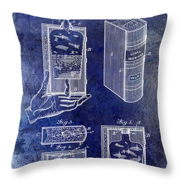 1885 Liquor Flask Patent Throw Pillow