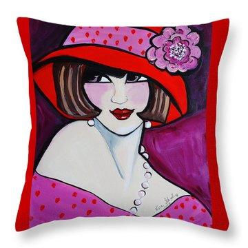 1920's Girl Ella Throw Pillow