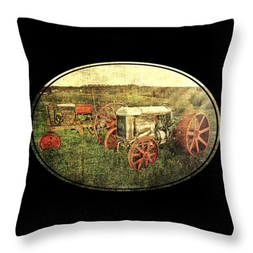 Vintage 1923 Fordson Tractors Throw Pillow by Mark Allen