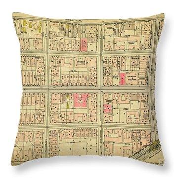 1927 Inwood Map  Throw Pillow