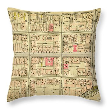 1927 Inwood Map  Throw Pillow