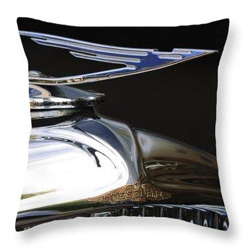 1929 Duesenberg Model J Hood Ornament Throw Pillow by Jill Reger