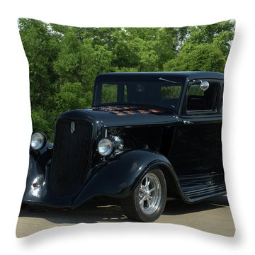 1933 Plymouth Coupe Hot Rod Throw Pillow