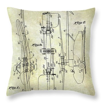 1935 Helicopter Patent  Throw Pillow by Jon Neidert