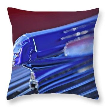1936 Pontiac Hood Ornament 4 Throw Pillow by Jill Reger
