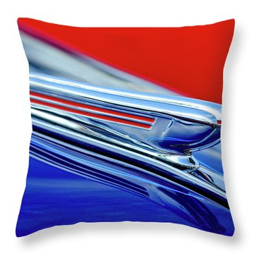 1938 Chevrolet Hood Ornament 2 Throw Pillow by Jill Reger