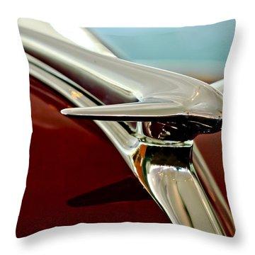 1938 Lincoln Zephyr Hood Ornament Throw Pillow by Jill Reger
