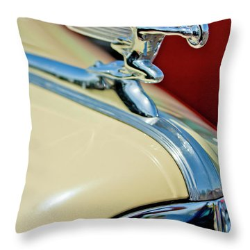 1940 Packard Hood Ornament Throw Pillow by Jill Reger