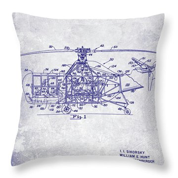 1950 Helicopter Patent Throw Pillow