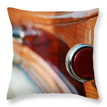 1952 Tin Woody Throw Pillow