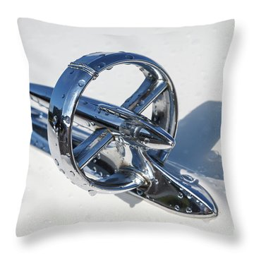 Throw Pillow featuring the photograph 1953 Buick Hood Ornament by Dennis Hedberg