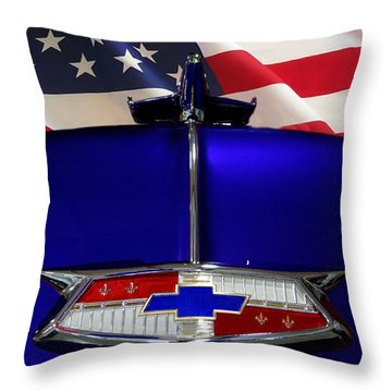 1954 Chevrolet Hood Emblem Throw Pillow