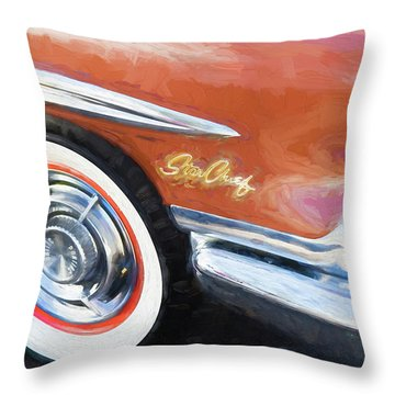 1958 Pontiac Star Chief  Throw Pillow by Rich Franco
