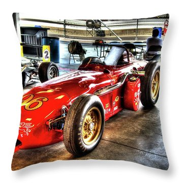 1961 Elder Indy Racing Special Throw Pillow