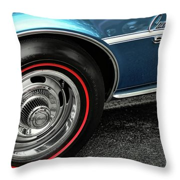 1968 Chevy Camaro Ss 396 Throw Pillow by Gordon Dean II
