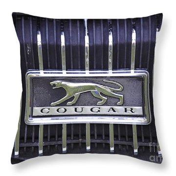 1968 Cougar Throw Pillow