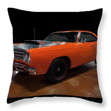 1969 Plymouth Road Runner A12 Throw Pillow