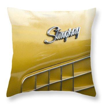 1972 Chevrolet Corvette Stingray Emblem Throw Pillow by Jill Reger