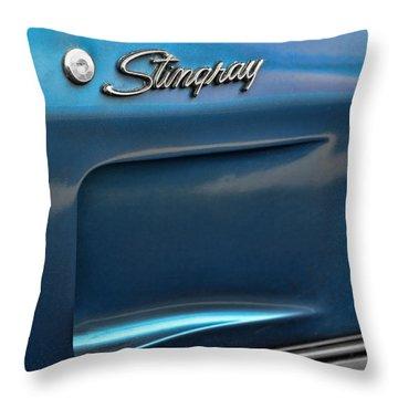 1973 Chevrolet Corvette Stingray Throw Pillow