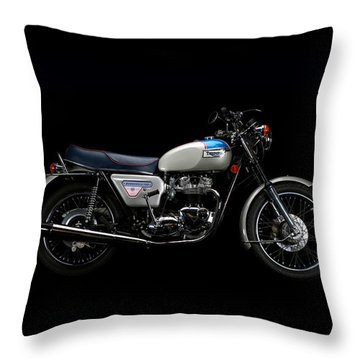 1977 Triumph Bonneville Silver Jubilee Throw Pillow