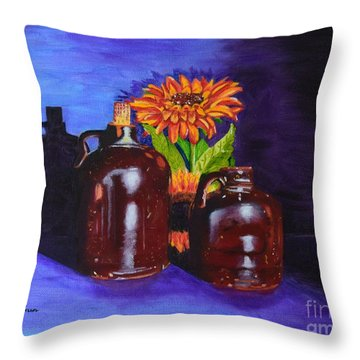 2 Old Jugs Throw Pillow by Melvin Turner