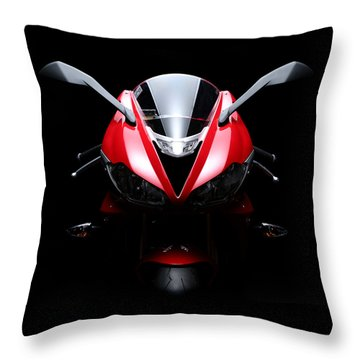 2013 Triumph Daytona 675 Throw Pillow