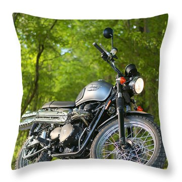 2013 Triumph Scrambler Throw Pillow