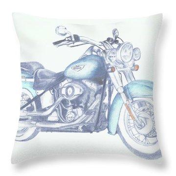 2015 Softail Throw Pillow