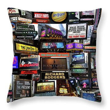 2016 Broadway Fall Collage Throw Pillow