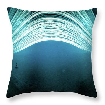Throw Pillow featuring the photograph 2016 In One Exposure. by Will Gudgeon