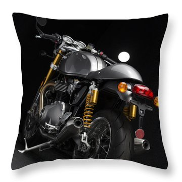 2016 Triumph Thruxton R Throw Pillow