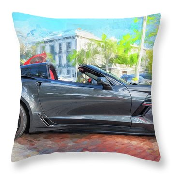 2017 Chevrolet Corvette Gran Sport  Throw Pillow by Rich Franco