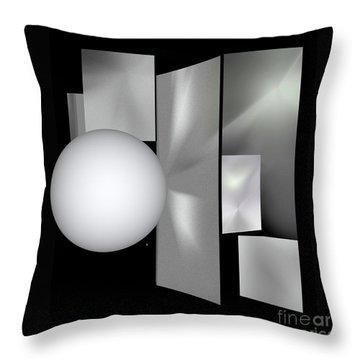 Throw Pillow featuring the digital art 1-2017 by John Krakora