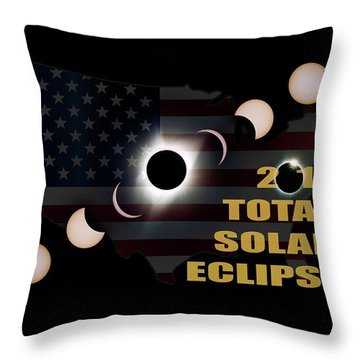 2017 Total Solar Eclipse Across America Throw Pillow