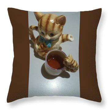 Koneko Means A Kitten Throw Pillow