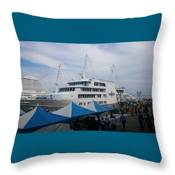 Port City Throw Pillow