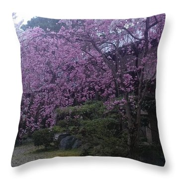 Shidarezakura Mean A Drooping Cherry Tree  Throw Pillow
