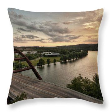 360 Bridge Sunset Throw Pillow
