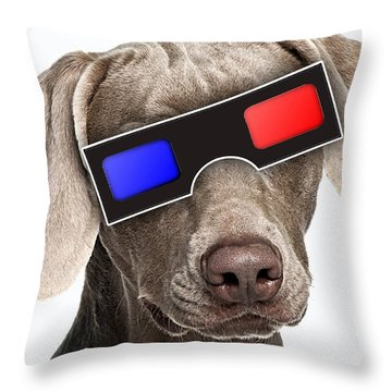 3d Dog Collection Throw Pillow by Marvin Blaine
