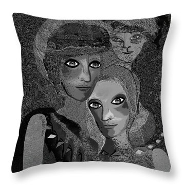 Throw Pillow featuring the digital art 451 - To Lean On by Irmgard Schoendorf Welch