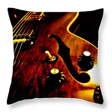 '68 Gibson Throw Pillow by Christopher Gaston