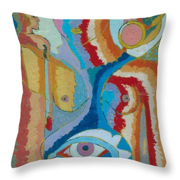 7 Throw Pillow by John Powell