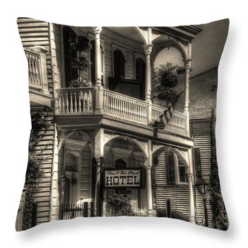 905 Royal Hotel Throw Pillow