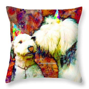 A Birthday Kiss Throw Pillow