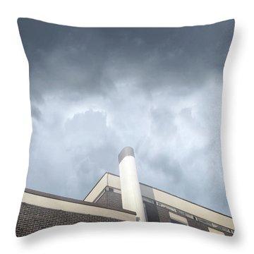 A Building Exterior  Throw Pillow