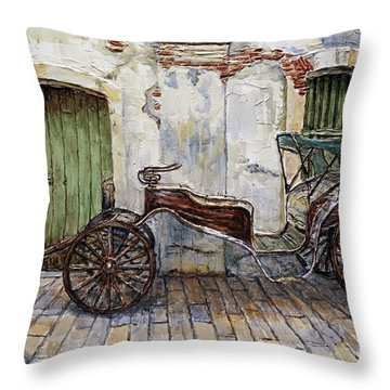 A Carriage On Crisologo Street 2 Throw Pillow