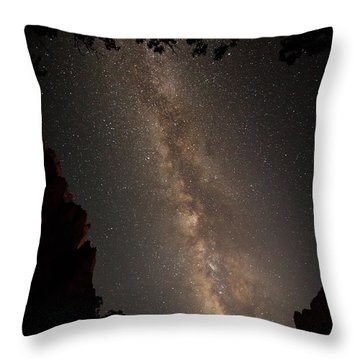 A Dark Night In Zion Canyon Throw Pillow