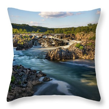 A Day In The Life Of A River Throw Pillow