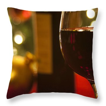 A Drink By The Tree Throw Pillow